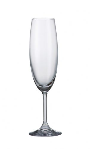 2 Flute Wine Glasses 220 ml Klara